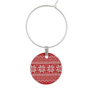 Christmas Sweater Knitting Pattern - RED Wine Charm