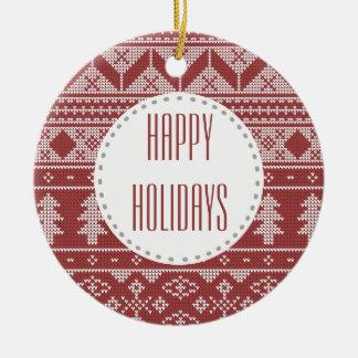 Christmas Sweater Monogram | Photo Tree Ornament