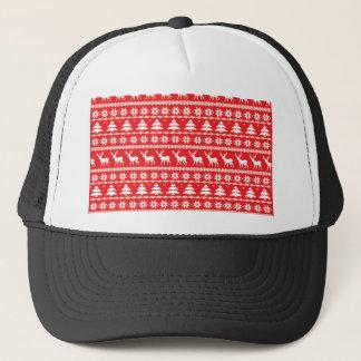 Christmas Sweater or Nordic Folk Ornament Trucker Hat