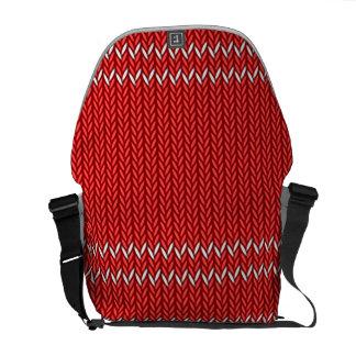 Christmas Sweater Pattern Messenger Bag