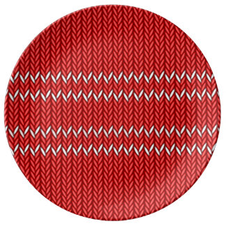 Christmas Sweater Pattern Plate