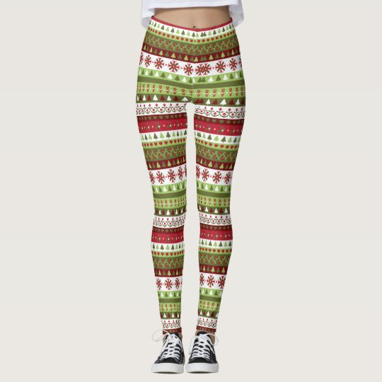 Christmas Sweater Style Leggings Leggings