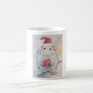 Christmas sweet mouse with red Christmas tree toy Coffee Mug