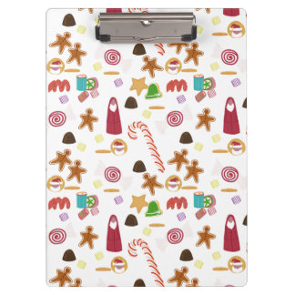 Christmas Sweeties Candies, Peppermints Candy Cane Clipboard