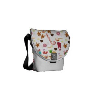 Christmas Sweeties Candies, Peppermints Candy Cane Messenger Bag