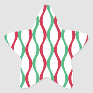 Christmas Swirl Pattern Star Sticker