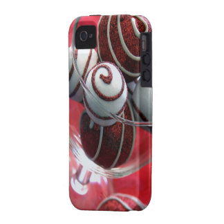 Christmas Swirls iPhone 4 Case