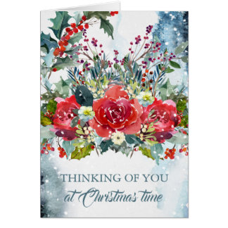 Christmas Sympathy Card - Thoughtful Thoughts
