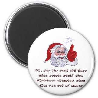 Christmas T-shirts and Gifts with Santa Claus 6 Cm Round Magnet