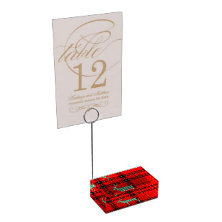 CHRISTMAS TABLE CARD HOLDERS