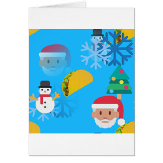 christmas taco emoji card