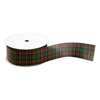 Christmas Tartan Grosgrain Ribbon