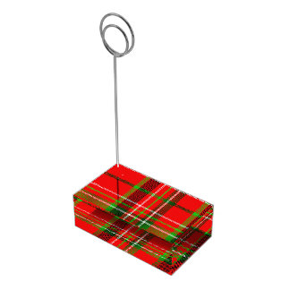 Christmas Tartan Pattern Table Card Holder