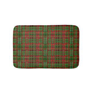 Christmas tartan plaid bathmat bath mats