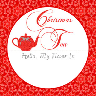 christmas name tags stickers zazzle au