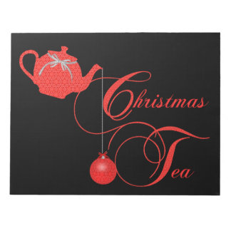 Christmas Tea Party, Red Lace Notepad