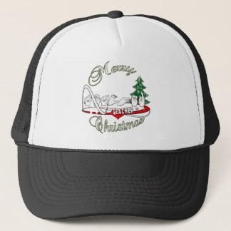 CHRISTMAS TEACHER FINGERSPELLED ASL TRUCKER HAT