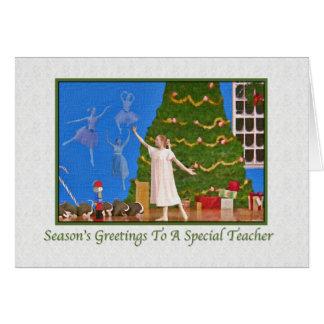 Christmas, Teacher, Nutcracker Ballet Greeting Card