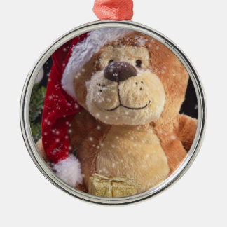 Christmas Teddy Bear and Gold Gifts Christmas Tree Ornaments