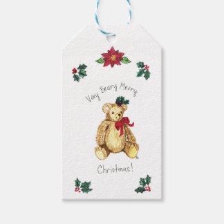 Christmas Teddy Bear Gift Tag