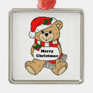 Christmas Teddy Bear Message Christmas Ornaments