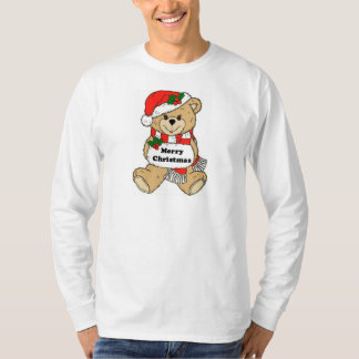Christmas Teddy Bear Message T-Shirt