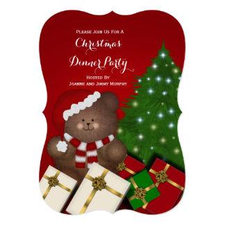 Christmas Teddy Bear Party Invitations