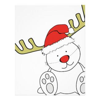 Christmas Teddy Bear Reindeer Flyers