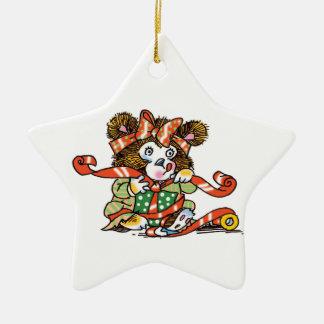 Christmas Teddy Bear Start Ornament