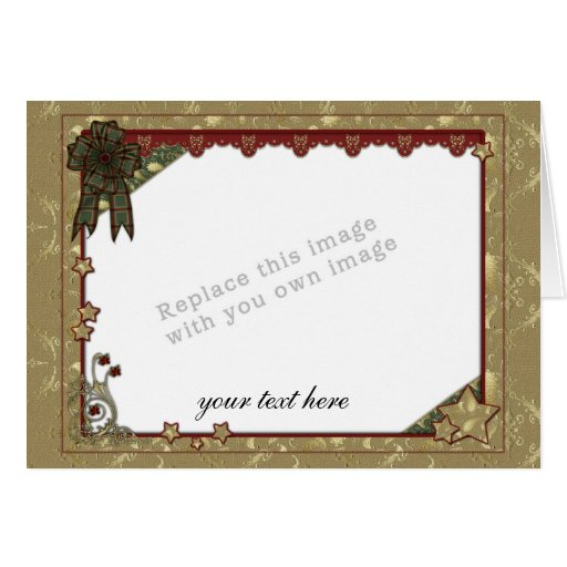 Christmas Template Greeting Cards