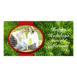 Christmas Template Family Picture Custom Holiday Personalised Photo Card