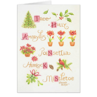 Christmas Thank You Greeting Card Nature Delights