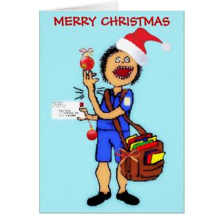 Christmas Thank You Mailman Card