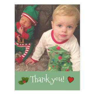 Christmas Thank you ~ Photo card Postcard