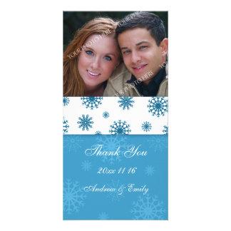 Christmas Thank You Wedding Photo Cards