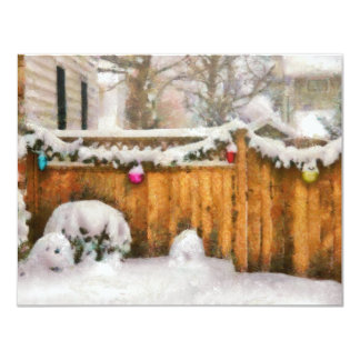 Christmas - The Decorations are out 11 Cm X 14 Cm Invitation Card