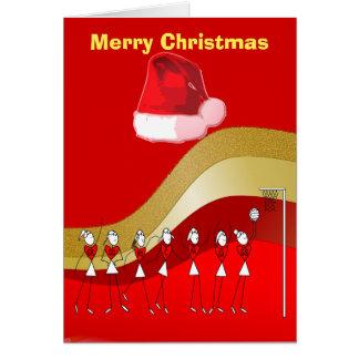 Christmas Theme Netball Card
