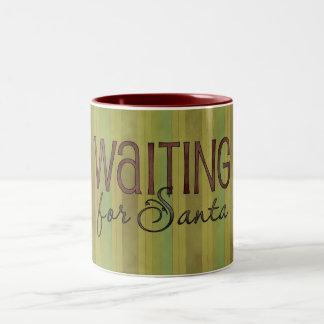 Christmas Theme Santa Reindeer Coffee Cup Two-Tone Mug
