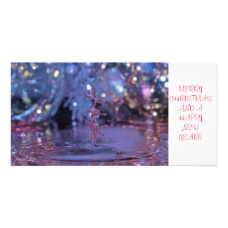 Christmas theme water drop photocard card