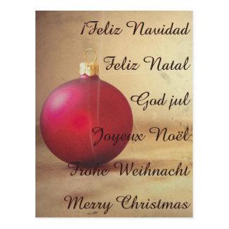 Christmas theme with Christmas ball Postcard
