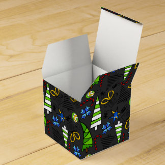 Christmas themed doodles design, kid's drawnings favour box