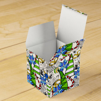 Christmas themed doodles design, kid's drawnings s favour box