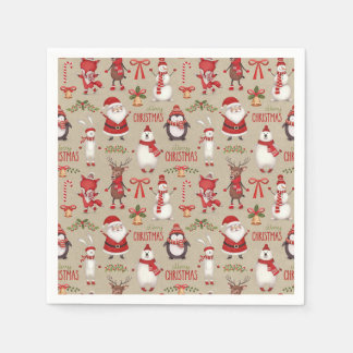 Christmas Themed Party Napkins Disposable Serviette