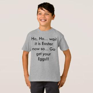 Christmas Then Easter Funny Kids Shirt
