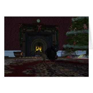 Christmas Thief Greeting Card