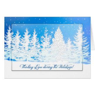Christmas - Thinking of You - Winter Wonderland Card