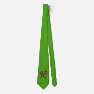 Christmas Tie - Green with bow