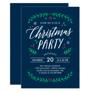 Christmas Time EDITABLE COLOR Party Invitation