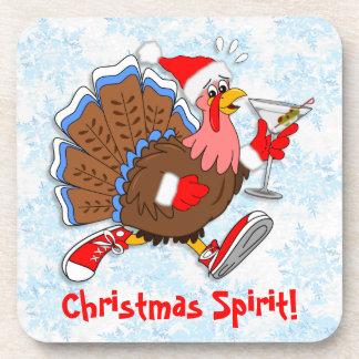 Christmas Tipsy Turkey (Martini) Coaster