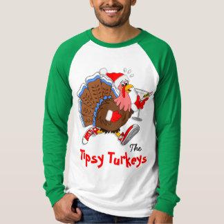 Christmas Tipsy Turkey (Martini) - LS Raglan T-Shirt